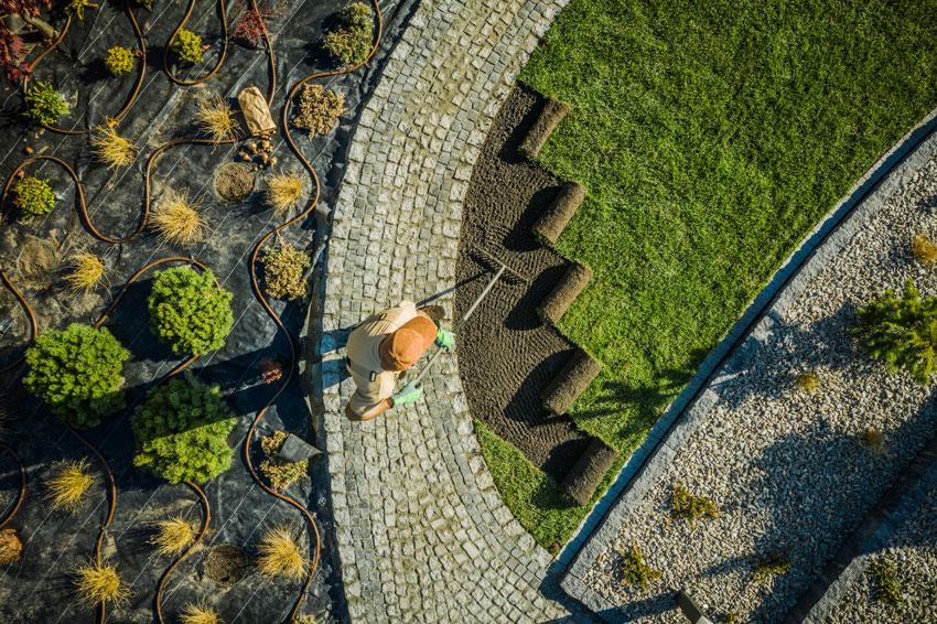 landscaping yard