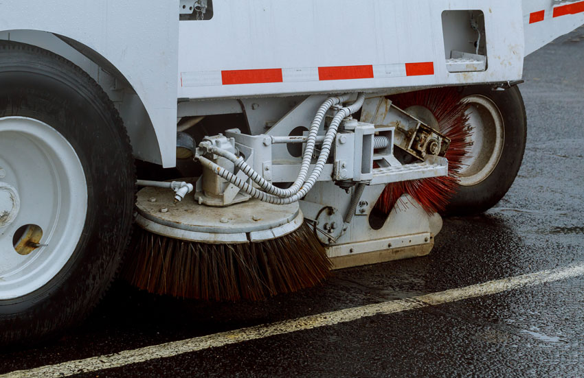 parking lot sweeper